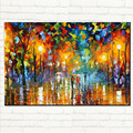 Landscape Oil Painting Lovers Rain Tree Tree Lamp On Canvas Wall Art Picture For Home Decoration