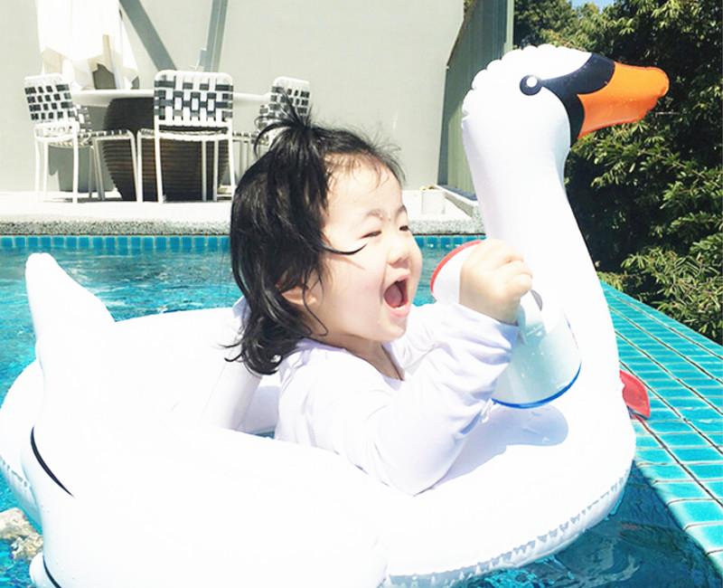 2016 Summer Baby Pink Flamingo Swimming Ring Inflatable Swan Swim Float Water Fun Pool Toys Swim Ring Seat Boat Kids Swimming(China (Mainland))
