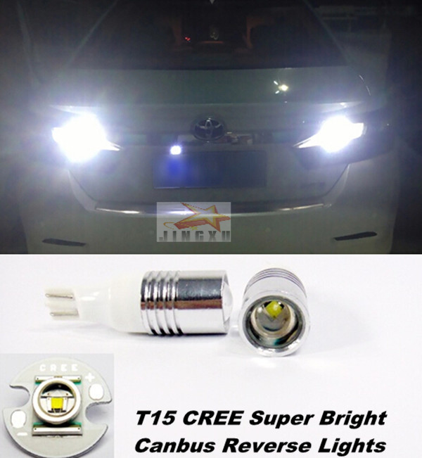 For Toyota Camry Highlander Tundra Venza Yaris Prius matrix CREE Q5 CHIP T15 W16W Car LED Lights Backup Reverse Tail Bulb(China (Mainland))