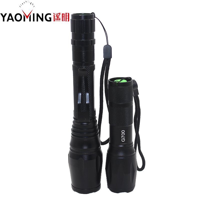 High power LED flashlights cree XM-L T6 2000LM LED tactical flashlight g700+g700 Upgraded version double torches lanterna lights(China (Mainland))