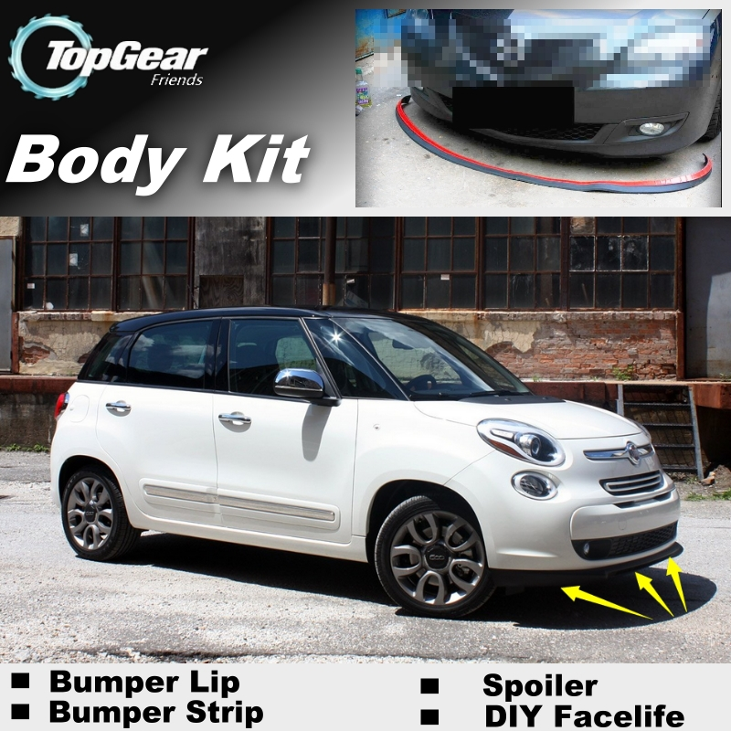 bumper lip deflector lips for fiat 500l trekking living mpw front spoiler skirt for topgear. Black Bedroom Furniture Sets. Home Design Ideas