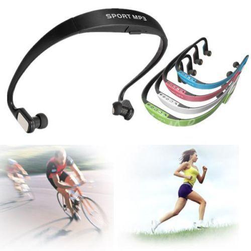 Sport FM Handsfree Wireless Headset Headphone Earphone MP3 Music Player Micro SD TF FM Radio(China (Mainland))