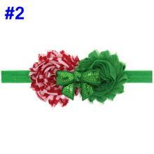 Naturalwell Bayi Perempuan Natal Bunga Kepala Aksesoris Hairband Bayi Liburan Ikat Kepala Elastis Putri Ikat Rambut 1 PC HB466(China)