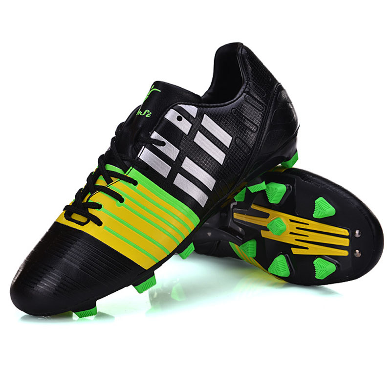Top Quality ! Men Boy Soccer Cleats Football Soccer Shoes Sneakers Trainers white blue green indoor soccer shoe(China (Mainland))