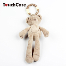 Buy Infant Cute Cartoon Rabbit Bear Rattle Cotton Soft Baby Bed Stroller Hanging Bell Plush Toy Doll Musical Mobile Wind Chimes Toys for $3.11 in AliExpress store