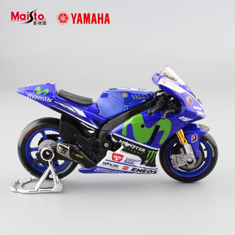 1:18 scale kids mini yamaha factory racing No.46 metal collectible motorbike diecast cars motorcycles gift toys for display 2017(China (Mainland))