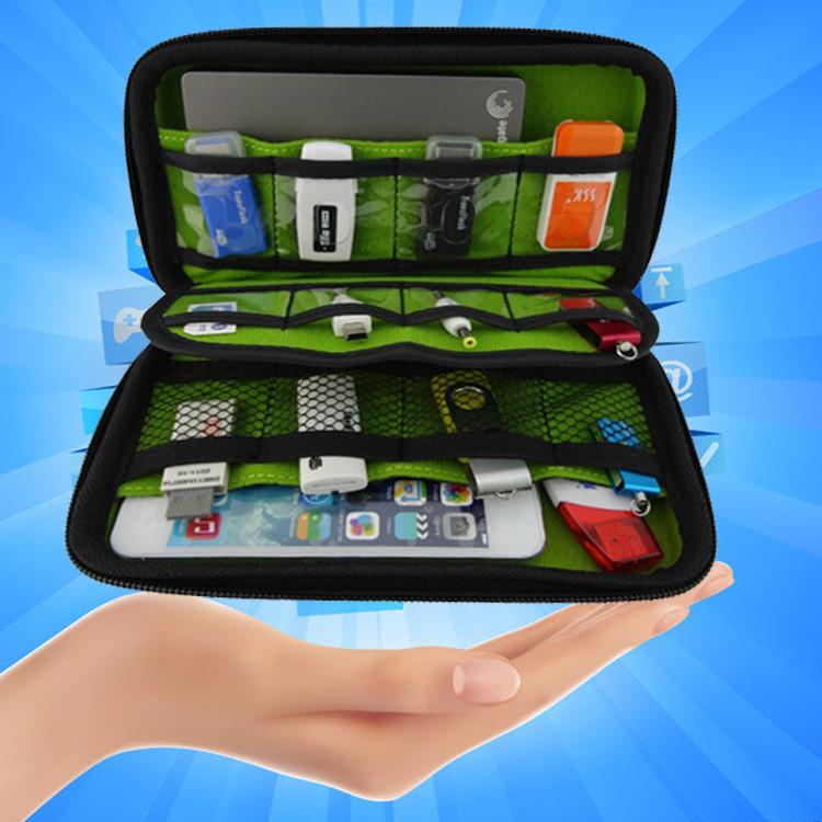 Great BUBM Hard Drive Earphone Cables USB Flash Drives Travel Case Digital Storage Bag Free Shipping(China (Mainland))