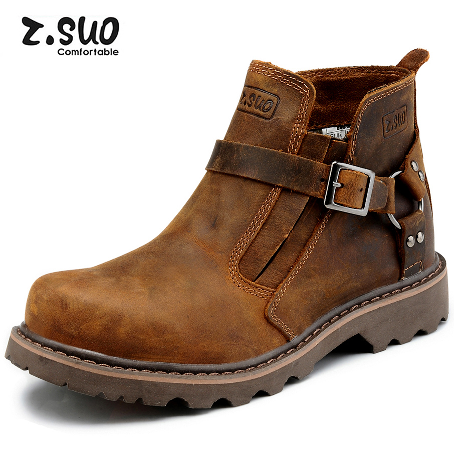 2014-ZSUO-fashion-pointed-toe-men-Motorcycle-boots-genuine ...