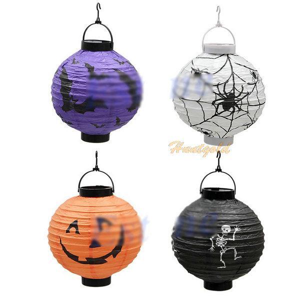 Halloween Pumpkin Paper Lantern Light Lamp Festival Party Room Decoration Lamp 1PC(China (Mainland))