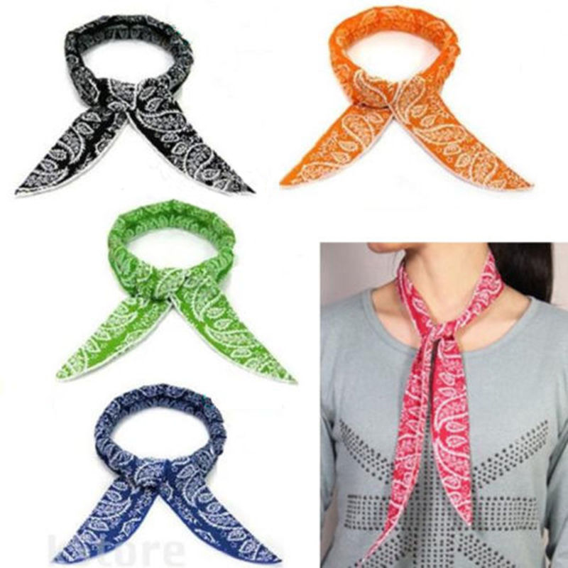 New Fashion Multifunction Non-toxic Neck Cooler Scarf Body Ice Cool Cooling Wrap Tie Headband(China (Mainland))