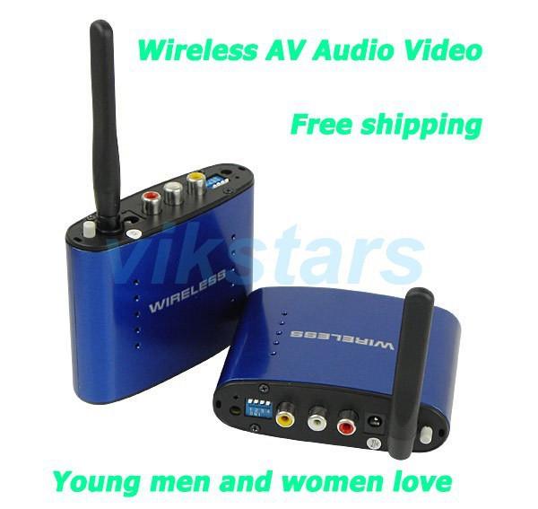 Hot sale Free shipping New 5.8 GHz Wireless AV Audio Video Sender Transmitter Receiver 200M AV Sender Audio Receiver(China (Mainland))