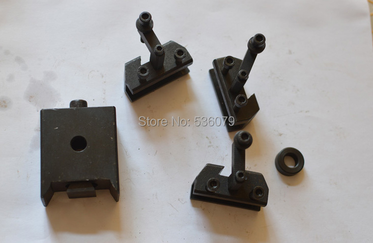 Mini quick change tool post set, One set contains 1pcs tool post and 3pcs holders, used for C2 and 0618(180mm swing bench lathe)(China (Mainland))
