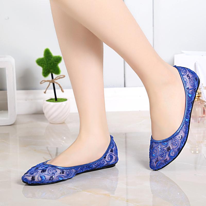 Latest arrival  flats flat shoes Women's Flat Ballet shoes comfortable shoes women shoes Free Shipping  703-32