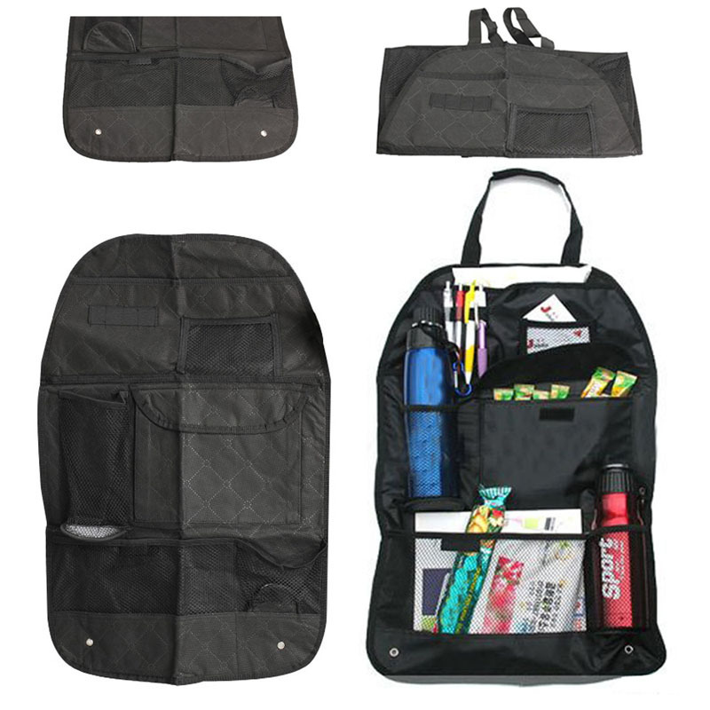 P4PM Car Auto Back Seat Organizer Bags Assorted Bag Pocket Black NVIE(China (Mainland))