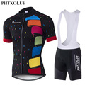 Phtxolue 2016 Cycling Jerseys Sets Breathable Bike Cycling Clothing Polyester Quick Dry Bicycle Clothes QY048