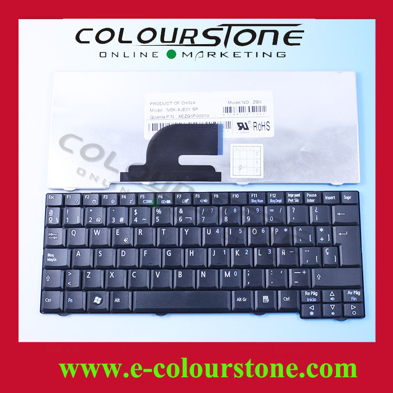 Spanish Keyboard For Acer Aspire One A150 Keyboard A110 110L 150L D150 P531 AEZG5P00010 NSK-AJE01 SP(China (Mainland))