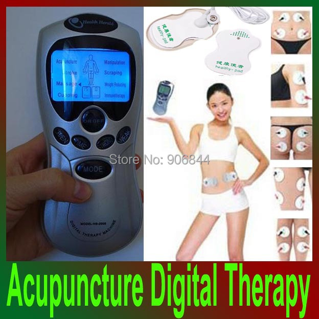 Digital Acupuncture Tens Therapy Machine Full Body Massager Foot Pads for man,woman,old healthy care(China (Mainland))