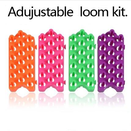 10 Pcs/lot New Free Adjustable Rubber Loom Bands Kit Weaving Loom Kit Board Loom Bands Gum for Bracelets Making Kit(China (Mainland))