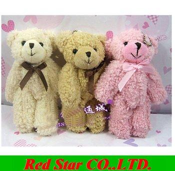 Free Shipping teddy bears stuffed animals,plush toys,plush,10pcs/lot, Tinny bear,, small bears. use for wedding,cellphone, bag