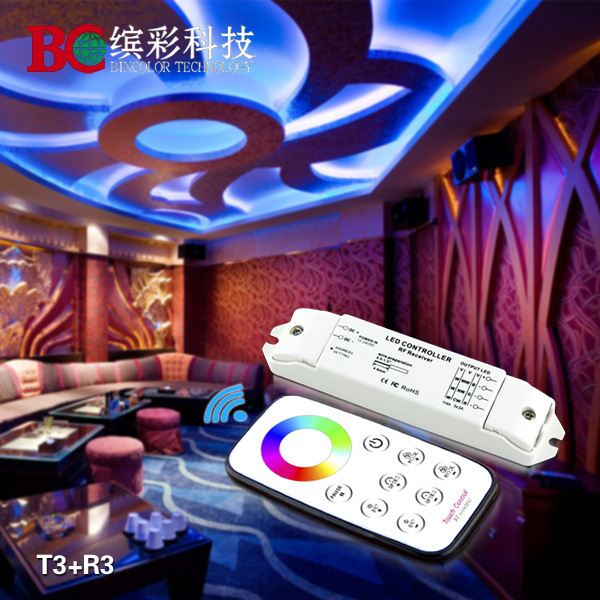 Bincolor T3 R3 Mini led rgb controller touch control remote control(China (Mainland))