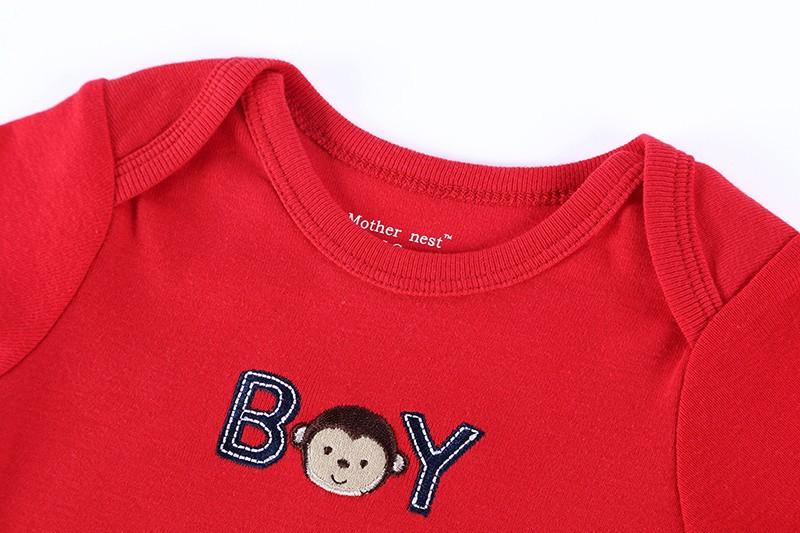 Fashion 5 Pieceslot Infantil 100% Cotton Baby Bodysuit Short Sleeves Toddler Girls Boys Bodysuit Baby Boy Layette Baby Wear (1)