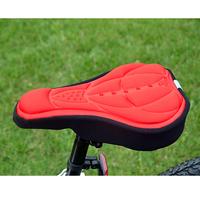 Cycling Bicycle Bike Silicone Saddle Seat Cover Silica Gel Cushion Soft Pad EA14
