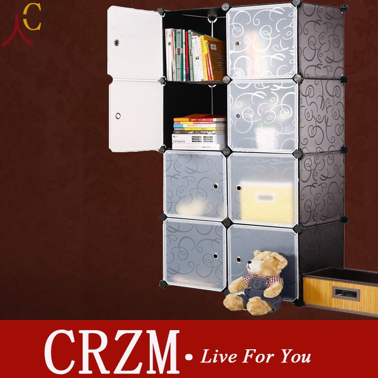DIY bookshelf shelf cabinet resin magical bookcases plastic storagebox Many colors for choice 10%off(China (Mainland))