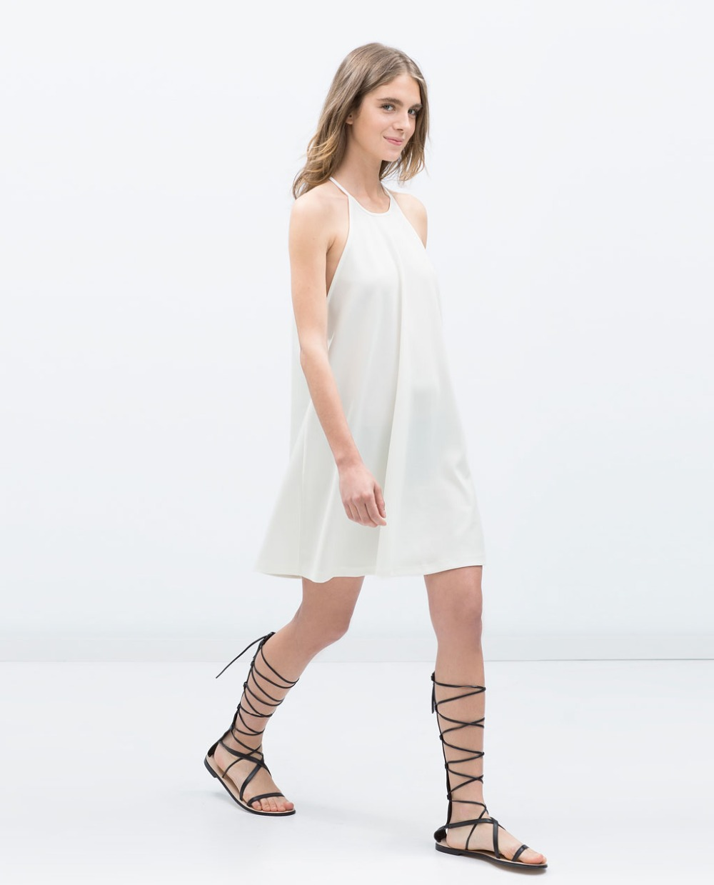 Short White Chiffon Dress