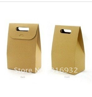 E1 Free shipping 10CMX15.5CMX6CM Cake paper bags for desserts and gift, 40pcs/lot