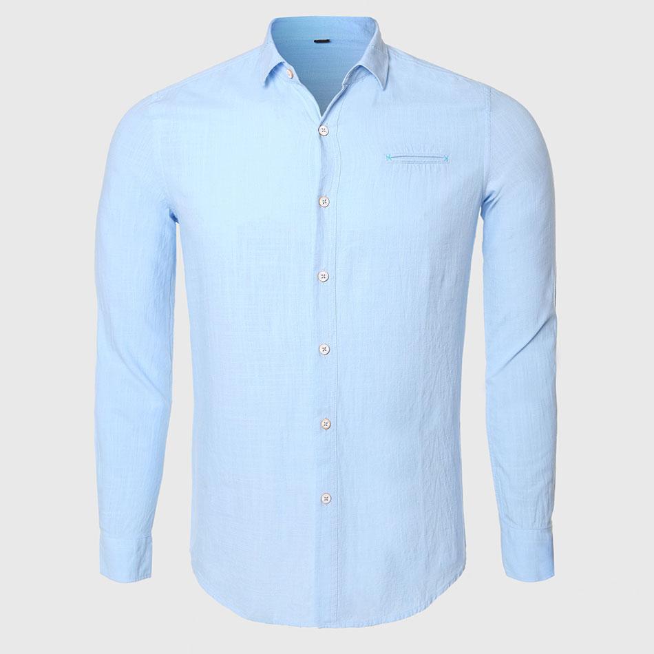 Men Elegant Formal Shirts Male Designer Leisure Shirt Long Sleeve Luxury Cotton Fabric Plain Work Business Wear White Blue(China (Mainland))