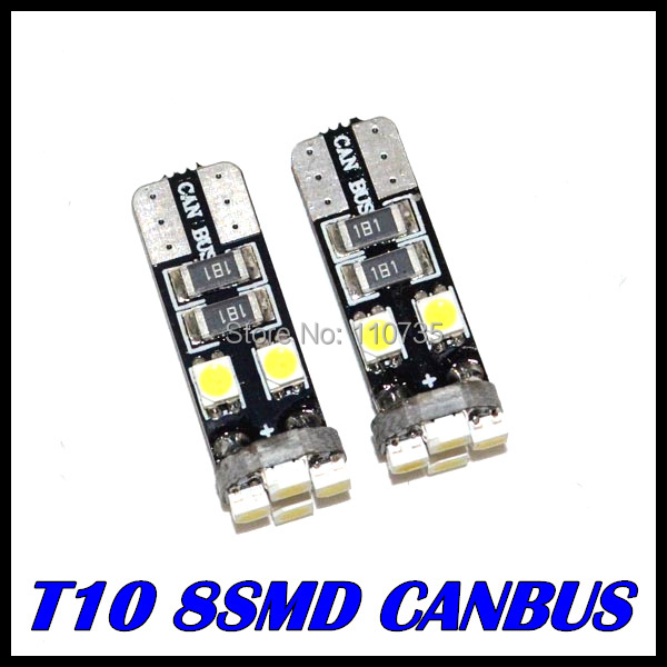 5 canbus T10 8led 3528 LED Canbus OBC Error W5W 8SMD Interior Instrument Light bulb lamp White - GZ Auto Parts Center store