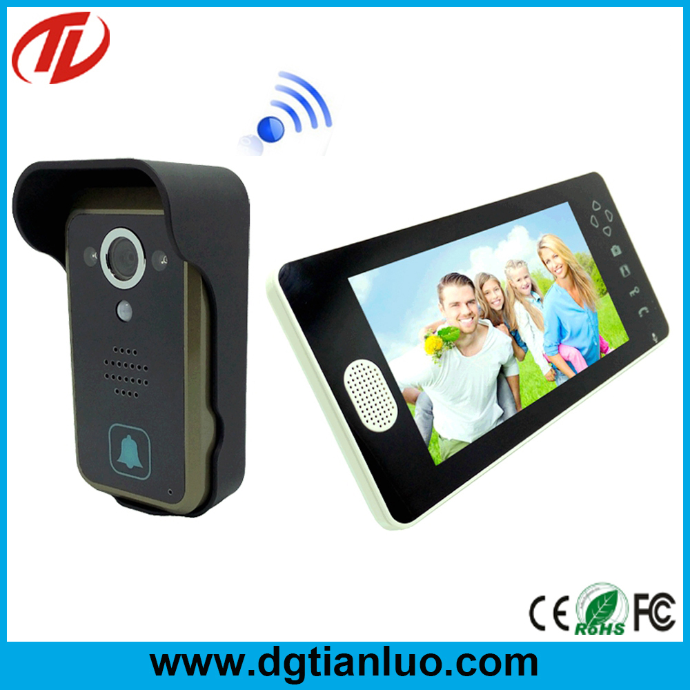Door bell camera 2015 lcd screen video camera door front for Door video camera