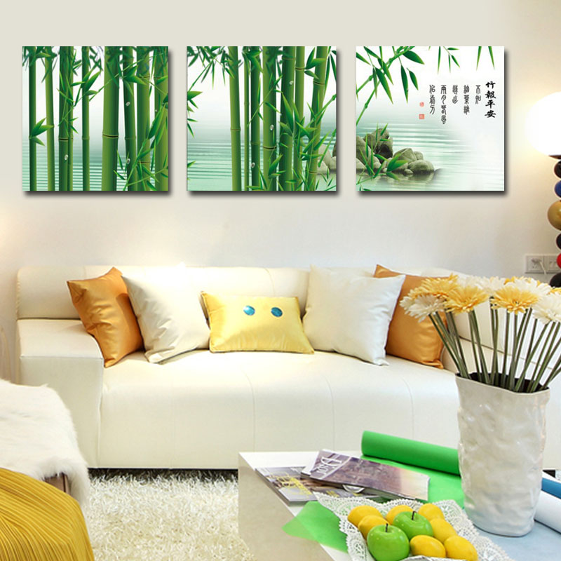 Aliexpress Com Buy Free Shipping 3 Piece Wall Decor: Aliexpress.com : Buy Green Bamboo Painting Fashion Home
