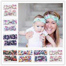 2pcs Women Girls Mum Mother Daughter Bohemia Parent Child Bow Flower Headband Hair Band Accessories Headwear