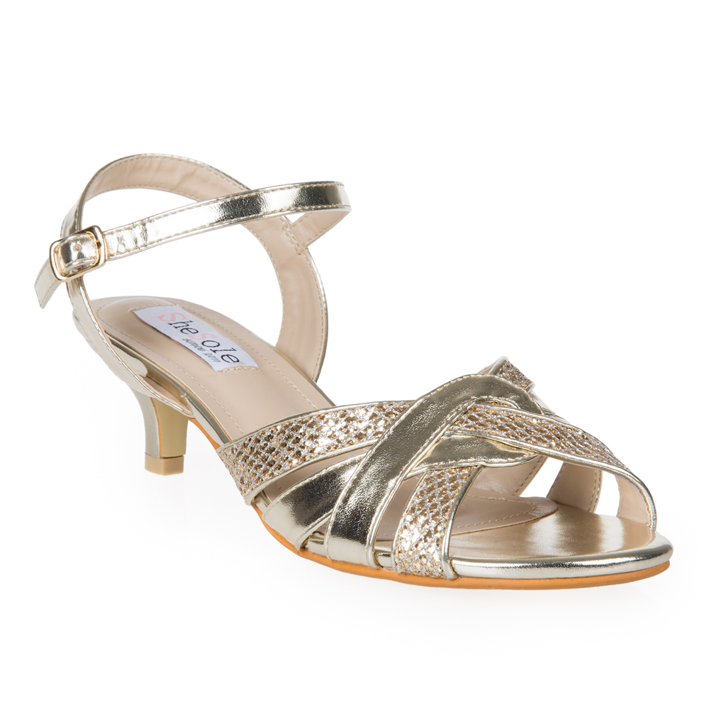 Kitten Heel Strappy Shoes