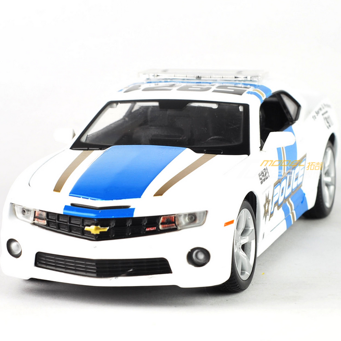 Free shipping 1:24 Alloy CHEVROLET camero ss rs police car model(China (Mainland))