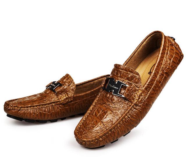 Ручной мужская обувь свободного покроя 2016 мода мужской обуви из натуральной кожи ...