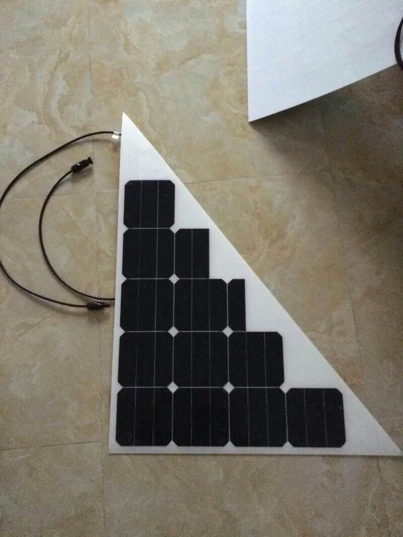 Flexible triangle solar panel 40w/12V lightweight and 3mm thickness<br><br>Aliexpress