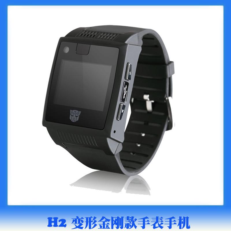 Recruitment Agency shipping authentic mini slim semi-intelligent touch-screen watch phone waterproof Bluetooth Transformers H2(China (Mainland))