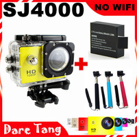 SDV03C Extra battery+Monopod Sport Camara Sport DV Go pro style HD 1080P SJ4000 Action camcorder Diving 30M Waterproof no wifi