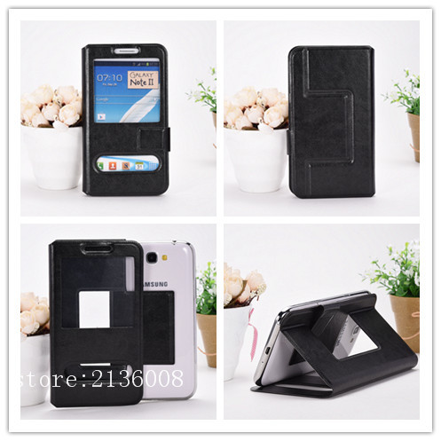For LG L20 Tri,D107 Case High Qualit Fashion Mobile Phone Leather Case With Big Mobile Window Free Shipping(China (Mainland))