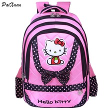 2016new fashion style hello kitty schoolbag backpack shoulder bag cute school bags teenagers mochila feminina mochilas infantis(China (Mainland))