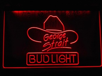 LE116- Bud Light George Strait Bar Pub LED Neon Light Sign