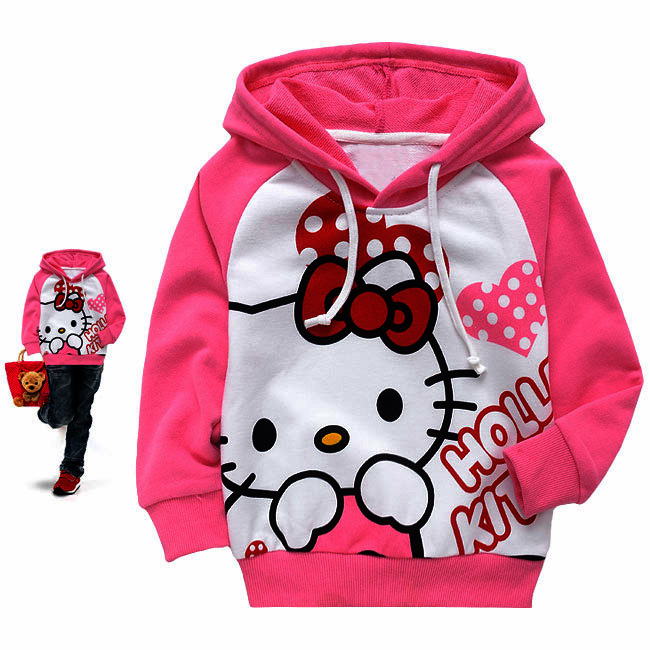 Retail 2015 Hotest girls boys hoodies Baby spring and autumn sweatshirt long sleeve Cartoon children clothes T-shirt with hat(China (Mainland))