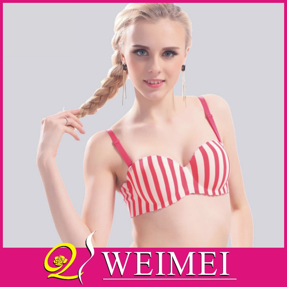 2015 young girl One-piece Seamless bra adjustable Deep V Sweet smooth sexy Cup A,B cup - Miss Ladies Store store