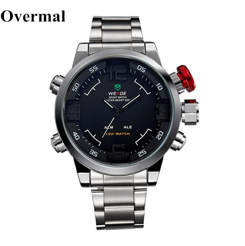 1Pcs Men's Watch Military Sport LED WristWatch Watches Overmal Waterproof New Multi Function Quartz Digital Date LED Watch(China (Mainland))