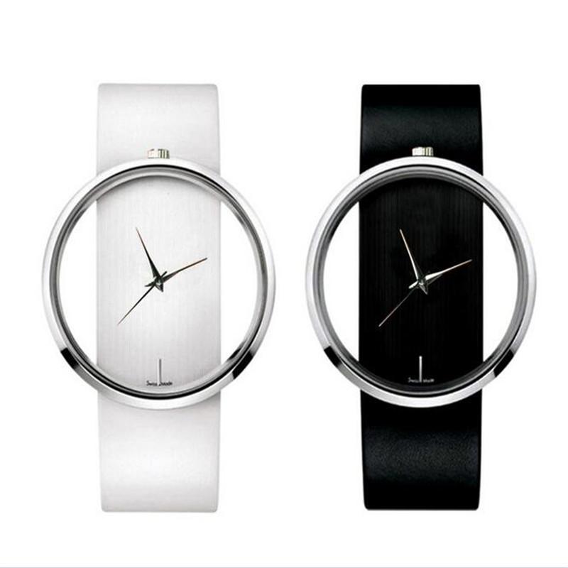 Fashion Women Watches 2015 quartz casual transparent hollow dial leather wristwatches women dress watch relogio feminino CC0117<br><br>Aliexpress