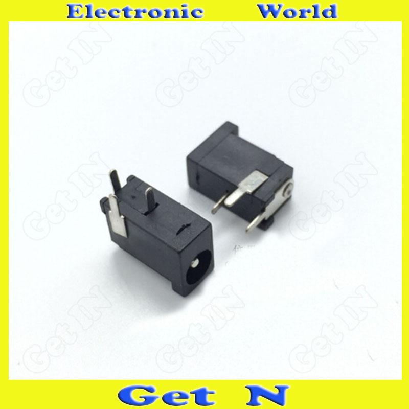 20pcs 1.1*3.5mm DC-002 DC Power Connector AC DC Power Jack Female Scoket High Quality(China (Mainland))