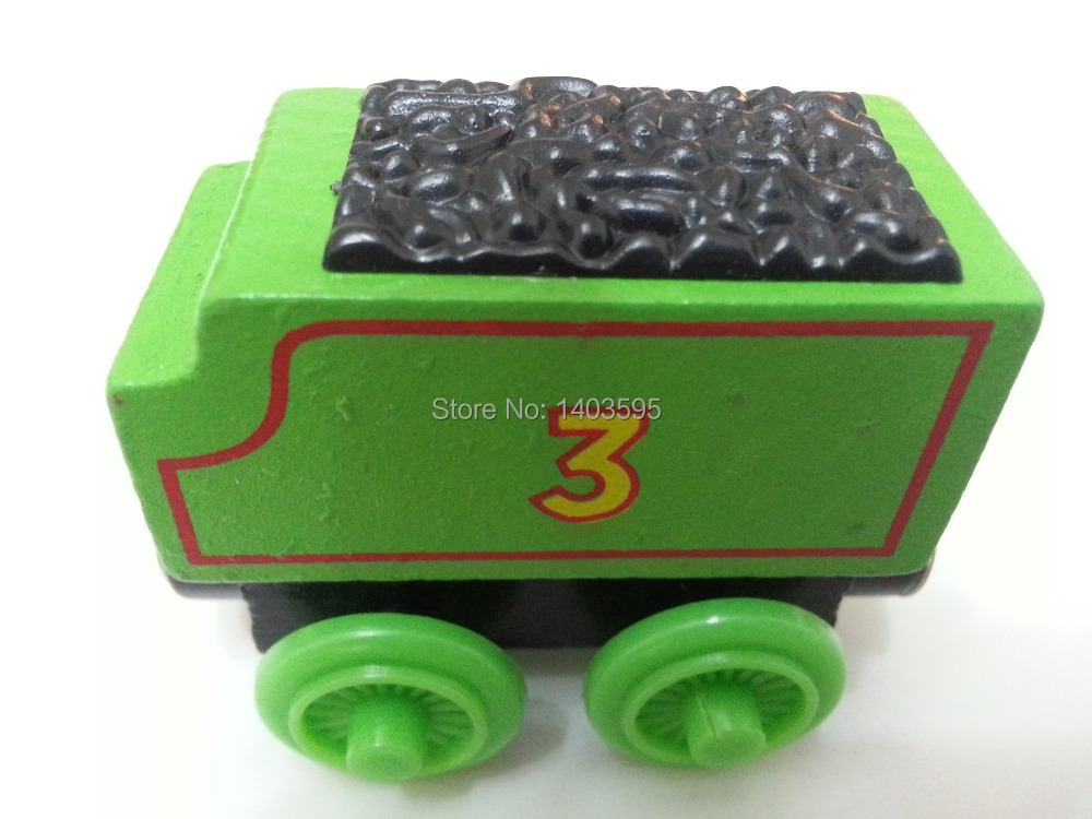 Thomas & Friends No.3 Henry Tender Magnetic Wooden Toy Train Loose Brand New In Stock & Free Shipping(China (Mainland))