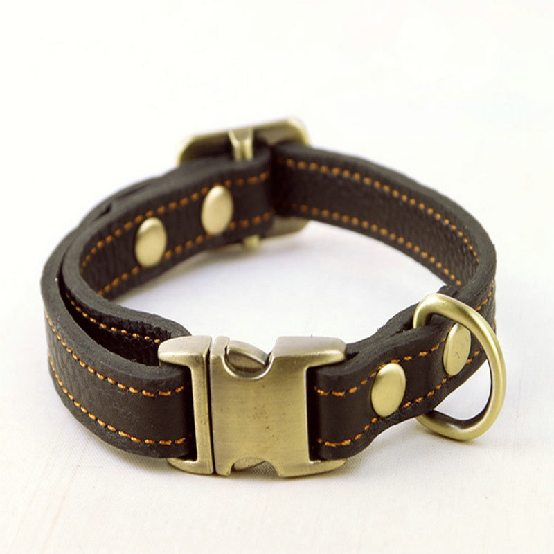 Fine Workmanship Imitation Leather Collars For Small Medium Large Dog Quick Release Basic Dog Collars(China (Mainland))
